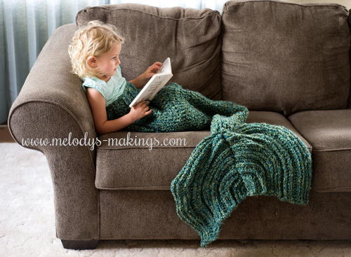 Crochet Mermaid Blanket - These free crochet afghan patterns are unique and fitting for any situation. Whether you're making a crochet baby blanket or a lapghan. #CrochetBlanketPatterns #DoubleCrochetBlankets #FreeCrochetPatterns