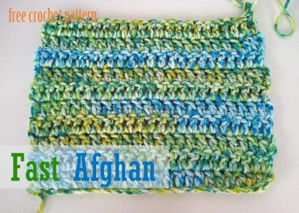 Quick Springtime Afghan - These free crochet afghan patterns are unique and fitting for any situation. Whether you're making a crochet baby blanket or a lapghan. #CrochetBlanketPatterns #DoubleCrochetBlankets #FreeCrochetPatterns