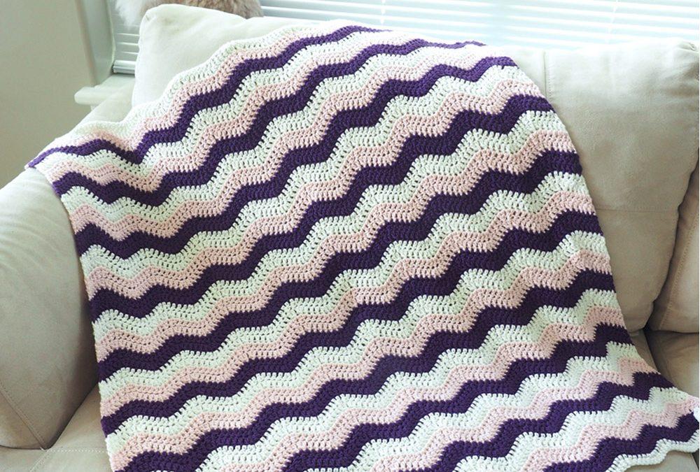 Little Ripple Baby Blanket Crochet Pattern