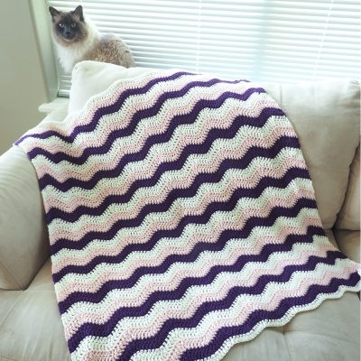 Crochet Blanket Pattern Chevron Flare Comes In Baby To King Size