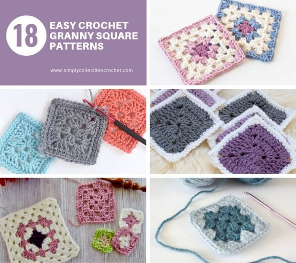 Crochet granny squares are so simple and fun to make. With so many free granny square patterns, you'll be stitching up a storm. #CrochetGrannySquarePatterns #GrannySquarePatterns #CrochetPatterns