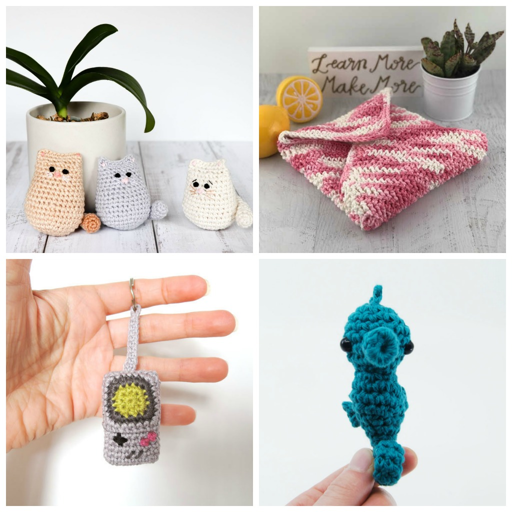 Learn how to crochet using basic crochet stitches and simple patterns. These beginner crochet patterns are easy and completely free.
