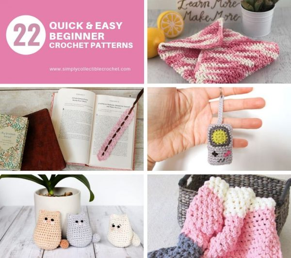 - Learn how to crochet using basic crochet stitches and simple patterns. These beginner crochet patterns are easy and completely free. #FreeCrochetPattern #CrochetPattern #CrochetAddict #BeginnerCrochetPatterns