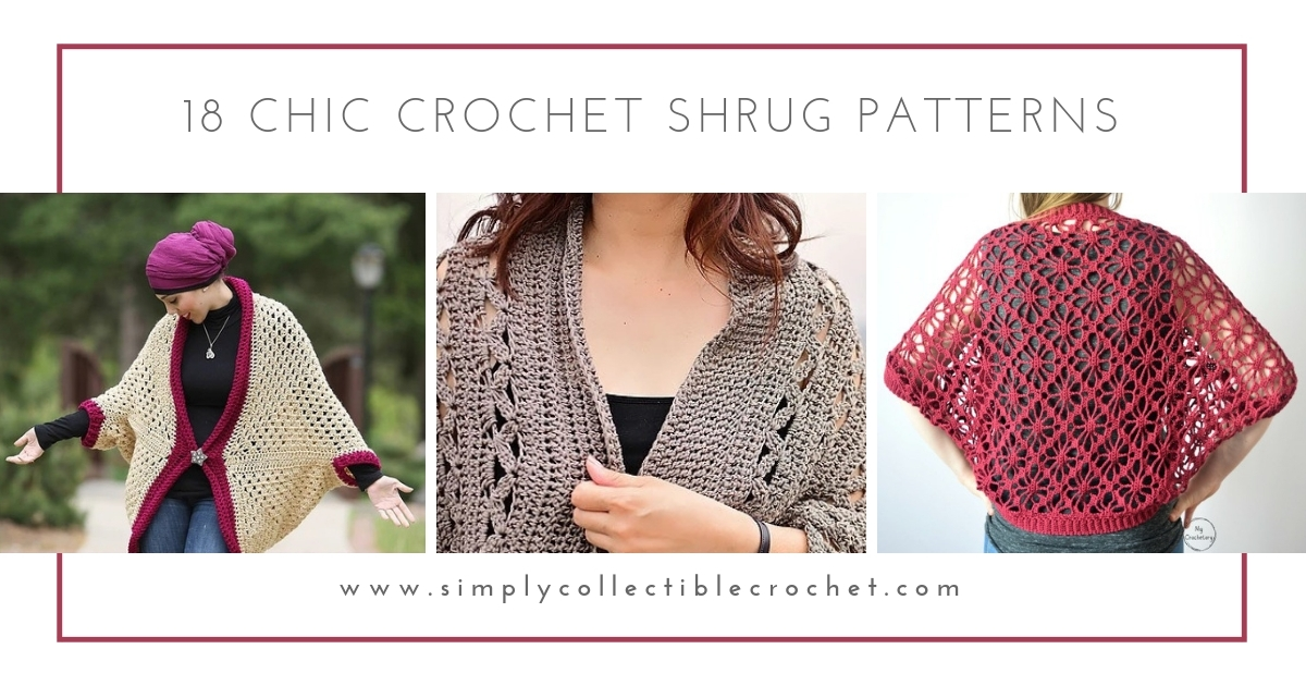 18 Chic Crochet Shrug Patterns Simply Collectible Crochet