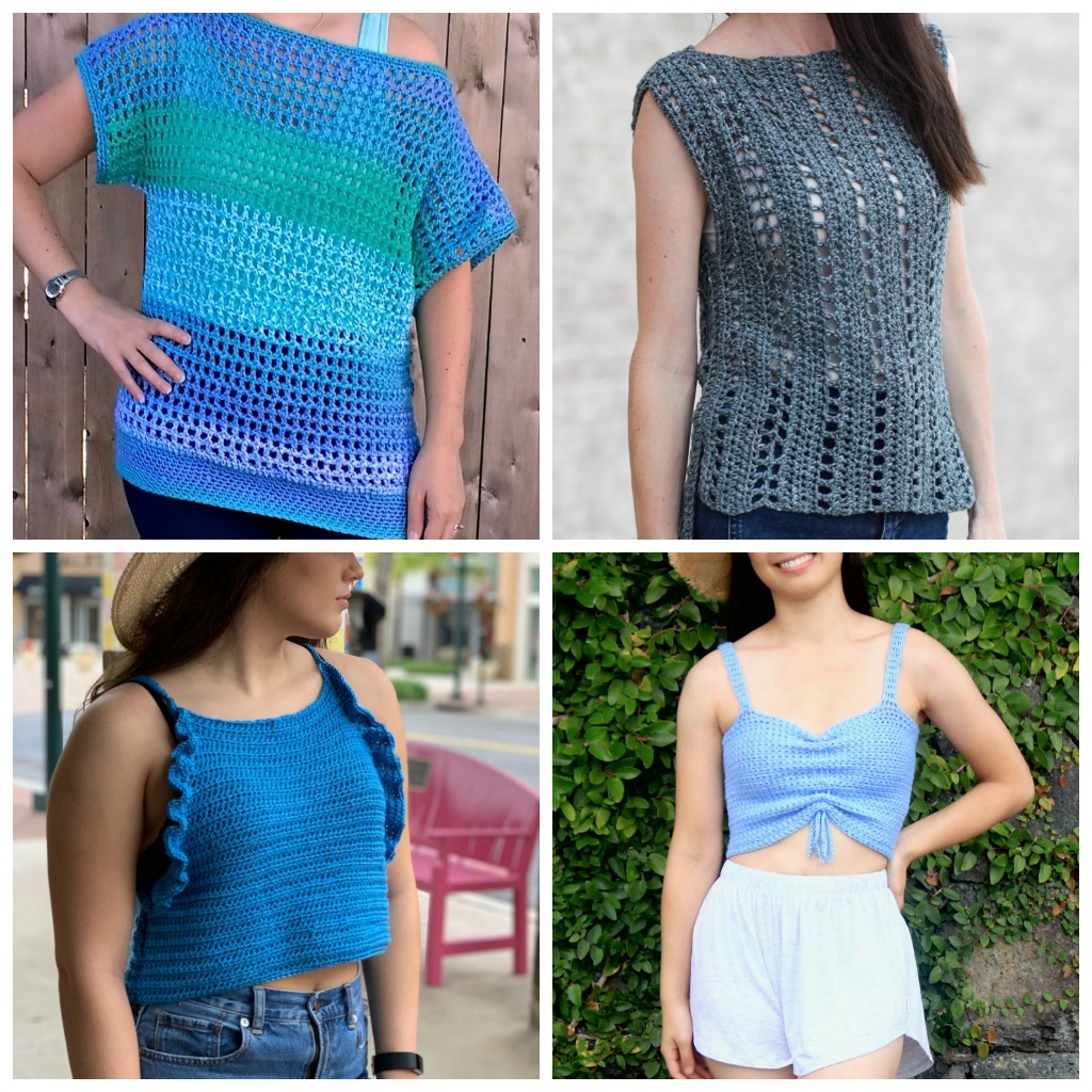 free crochet patterns for ladies summer tops
