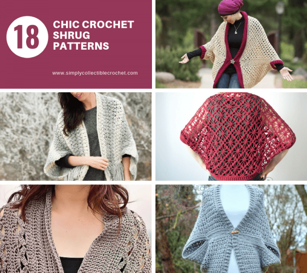 These crochet shrugs for women are cozy, comfortable and stylish. Everything you need to punp up your Fall/Winter wardrobe. #CrochetShrug #CrochetShrugPatterns #FreeCrochetPatterns