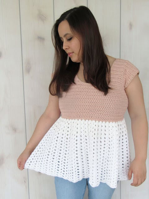 Talulah Top - Every one of these free crochet summer top patterns are cute and stylish. Grab a crochet hook and start making summer tops for everyone in your life. #FreeCrochetPatterns #CrochetSummerTops #CrochetSummerTopPatterns