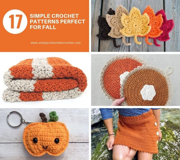 17 Simple Crochet Patterns Perfect for Fall - We have put together a list of simple crochet patterns that remind us all of fall. #simplecrochetpatterns #fallcrochetpatterns #easycrochetpatterns