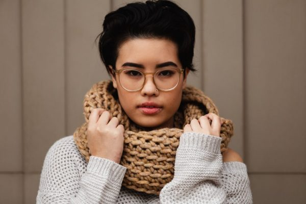 The Toasted Marshmallow Infinity - If you're thinking of an easy project to do this fall, look no further than these crochet infinity scarf patterns. #crochetscarf #crochetinfinityscarfpatterns #crochetpatterns
