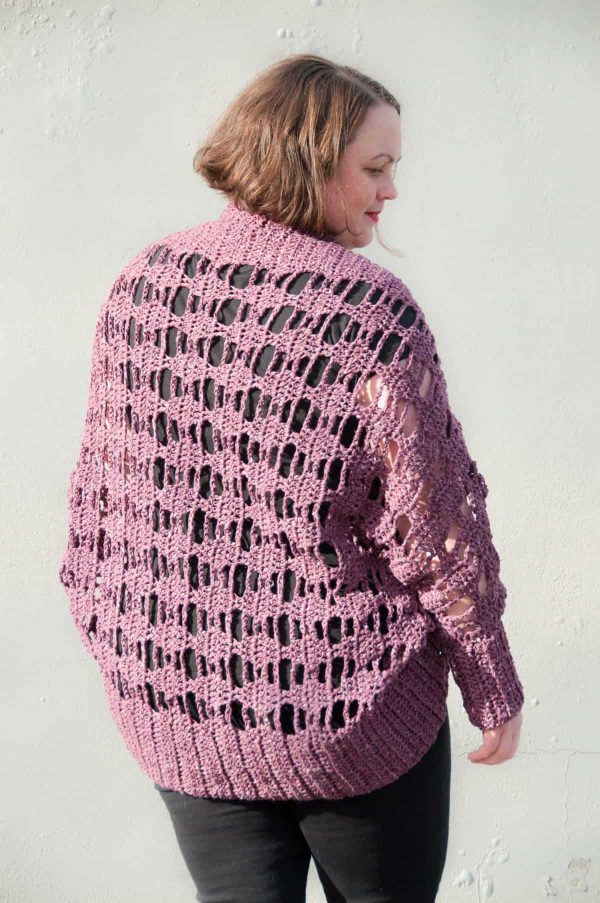 Aprilis Lace Shrug - Interested in making a few shrugs for yourself and/or to gift? Check out these 27 beginner crochet shrug patterns! #crochetshrugpatterns #crochetpatterns #shrugcrochetpatterns
