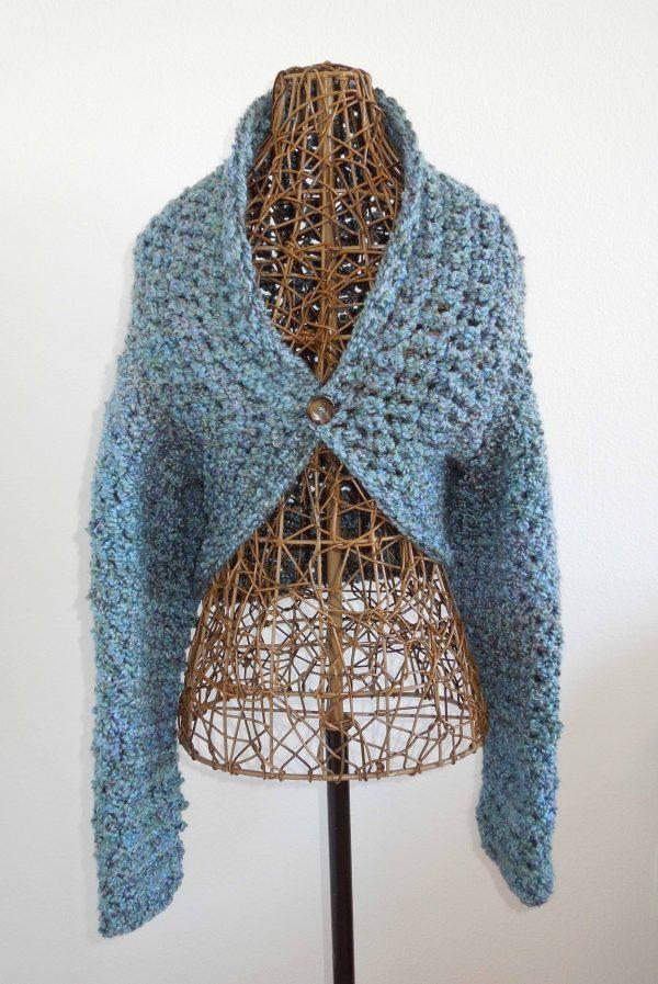 Blue Willow Crochet Shrug
