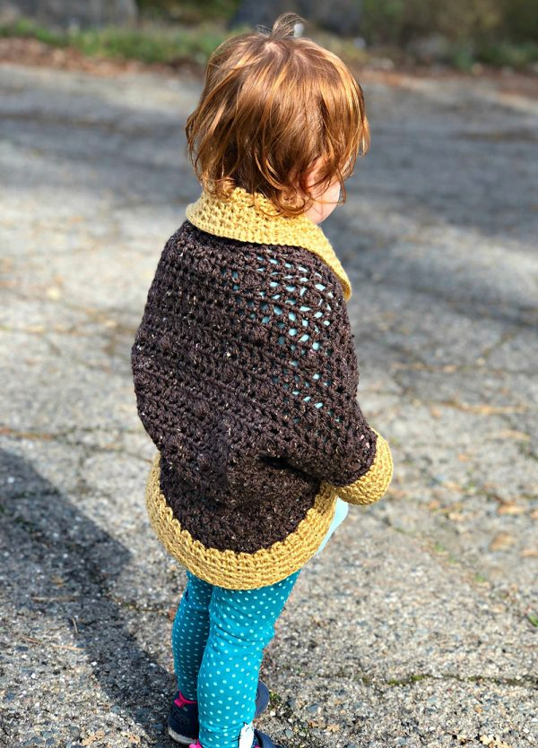 Bobble Cocoon Shrug - Interested in making a few shrugs for yourself and/or to gift? Check out these 27 beginner crochet shrug patterns! #crochetshrugpatterns #crochetpatterns #shrugcrochetpatterns