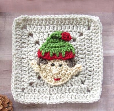 Christmas Elf Granny Square - This holiday season have tons of fun creating these fun and festive granny squares crochet patterns for whatever project you have in mind. #grannysquarepatterns #crochetpatterns #Holidaygrannysquarepatterns
