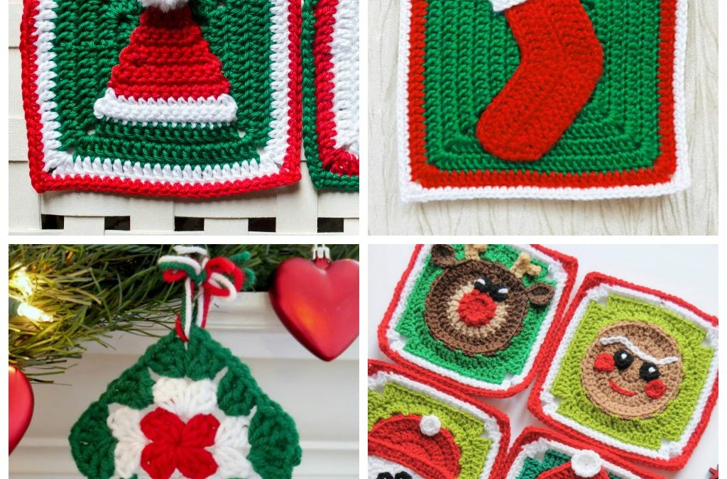 10 Holiday-themed Granny Square Patterns