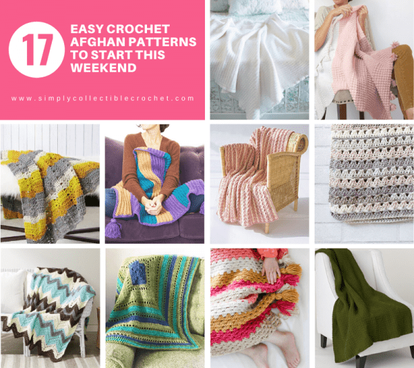 17 Easy Crochet Afghan Patterns to Start This Weekend - This list of 17 easy crochet afghan patterns has a good variety of styles and stitches that will allow you to flex your crochet muscle. #easycrochetafghanpatterns #crochetafghanpatterns #crochetpatterns