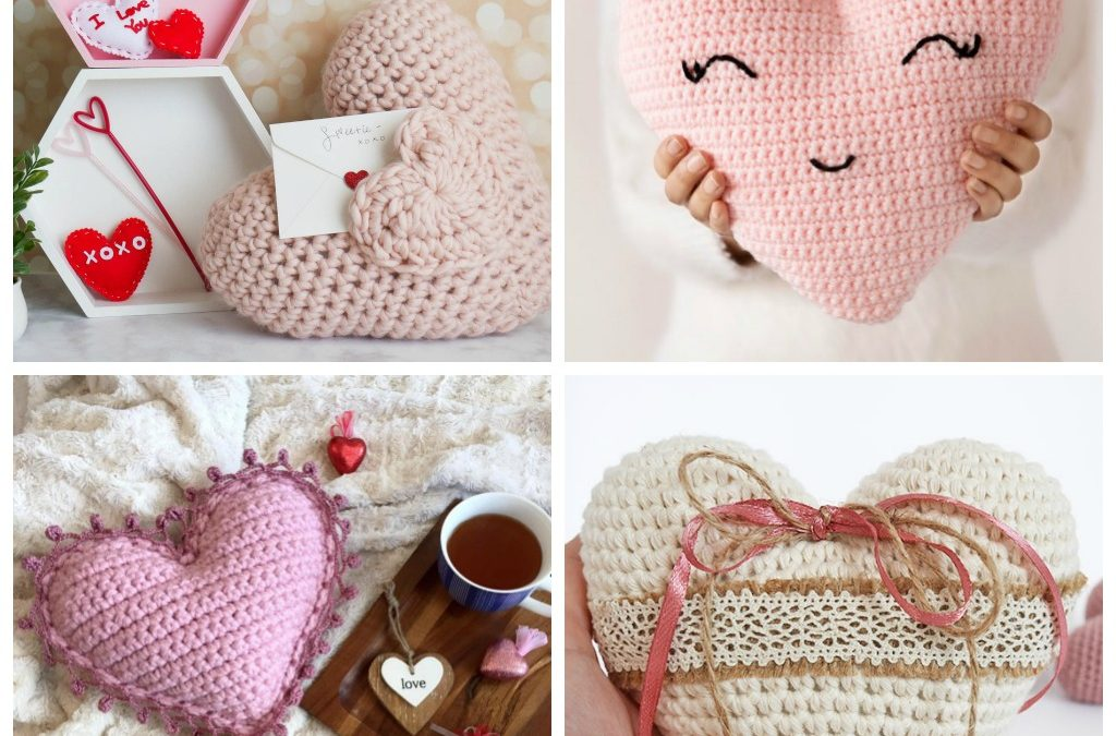 14 Valentines' Crochet Pillow Patterns