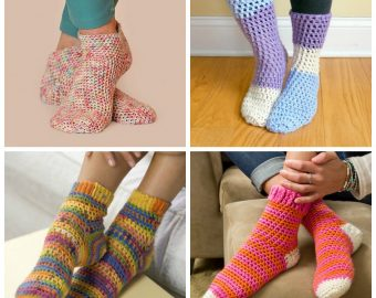 15 Free Crochet Sock Patterns to Keep Your Toes Warm