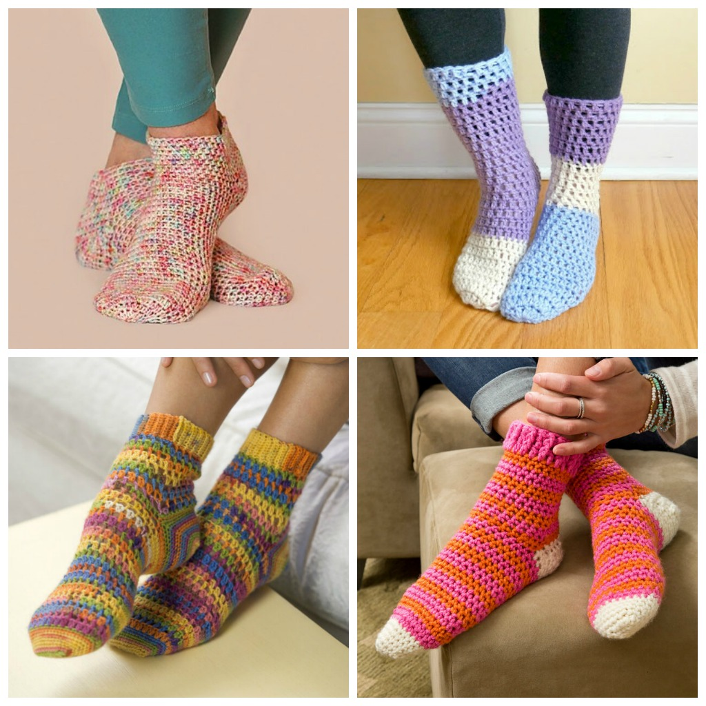 15 Free Crochet Sock Patterns to Keep Your Toes Warm - These free crochet sock patterns are the perfect gift to those who always seem to lose a pair or who prefer to keep their toes toasty at all times. #freecrochetsockpatterns #crochetsockpatterns #crochetpatterns